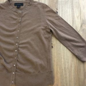 Express Brown 3/4 Sleeve Cardigan Size Small